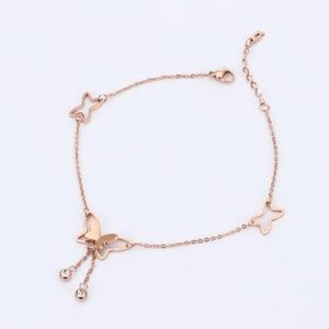 ✨🦋 anklet rose gold Fashion Jewelry